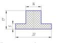 Шевроны Т17х33 для шевронирования конвейерных лент