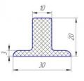 Рифли шевроны Т20х30 резиновые лопатки для шевронирования конвейерных лент