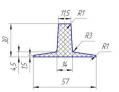 Шевроны Т30х57 для шевронирования конвейерных лент
