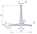 Рифли шевроны Т70х70 резиновые лопатки для шевронирования конвейерных лент
