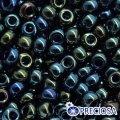 Бисер Preciosa 10/0 цв. 59155, фасовка 5г, ирис I, синий, круглый, (УТ0004714)