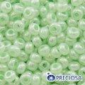 Бисер Preciosa 10/0 цв. 37152, алебастр al, салатовый, круглый, (УТ0001959)