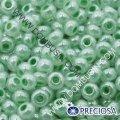 Бисер Preciosa 10/0 цв. 37356, алебастр al, зеленый, круглый, (УТ0003631)