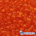 Бисер Preciosa 10/0 цв. 90000, прозрачный NT, оранжевый, круглый, (УТ0002480)