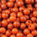 Бусины акрил бирюза имитация, круглые, цвет: оранжевый, диаметр: 10мм, отверстие 1.5мм, около 86шт/50г, (УТ000005491)