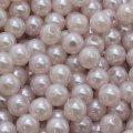 Жемчуг бусины акриловые, глянцевые, круглые, цвет: светло-розовый, размер: диаметр 6мм, отверстие 1мм, около 480шт/50г, (УТ0003393)