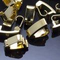 Застежка клипса латунь, цвет: золото, размер: 10х4х5мм, (УТ0010180)