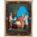 Набор для вышивки бисером, 27x36.6см, икона рождество христово, в наборе: схема+бисер(чехия)+ткань+мулине+иглы, тм чарівна мить, (УТ0009315)
