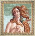 Набор с частичной вышивкой, смешанная техника, 21x21см, по мотивам с. Ботичелли .рождение венеры , в наборе: схема+канва+мулине+бисер(чехия)+иглы, тм чарівна мить , арт. М-75, (УТ0009825)
