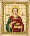 Схема для вышивки бисером, частичная, икона великомученика и целитиля пантелеймона , 17.7х21.7 см, тм чарiвна мить , арт. Сби-004, (УТ0005468)