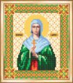 Схема для вышивки бисером, частичная, икона дарья, св. Мученица , 12х14 см, тм чарiвна мить , арт. Сби-010, (УТ0005360)