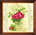 Схема для вышивки бисером, частичная, на авторской канве, 28.5x29см, цветы в вазе , тм чарiвна мить , арт. 271-сб, (УТ0006161)