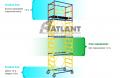 Подмости мобильные облегченные (1,6х0,8) (4+1) «Атлант»