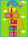 Детский синтетический ковер 3726.1.44946