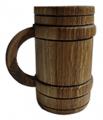 Кружка пивная сувенирная долбленая, арт. ЗКП 05