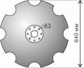 Disk of a harrow of AG, AGN, PD