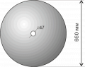 The disk BDT7 is spherical