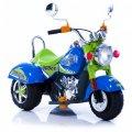Электромобиль-мотоцикл Geoby Harley W320-D51 синий с салатовым 6925