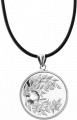 Монета-подвеска с кристаллом Бриллиант благороднейшего оттенка, серебро
