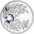 Монета с кристаллом Александрит, серебро