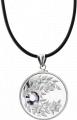Монета-подвеска с кристаллом Александрит, серебро