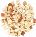 Apples dried cubes with a peel