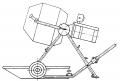 Бетоно-растворосмеситель циклический передвижной БРС-50