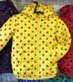 Детская куртка ветровка на девочку Сердечко 92-116 желтая, код товара 241680793