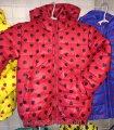 Детская куртка ветровка на девочку Сердечко 92-116 красное, код товара 241680816