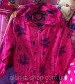 Детская куртка ветровка на 1-4 лет малиновая на девочку, код товара 251344514
