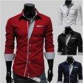 Рубашка с контрастными деталями, мужская рубашка дизайн, чоловіча сорочка