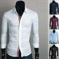 Современная мужская рубашка, мужская классическая рубашка, чоловіча сорочка