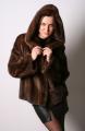 Куртка из натурального меха норки, в том числе лоскут.  Модель: M273