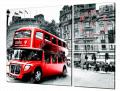 Картина модульная с часами 30 лондонский автобус 30T