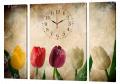 Картина модульная с часами 68 Тюльпаны 68T