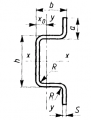 Профили стальные гнутые корытные равнополочные ОМЕГА - профиль ГОСТ 8283-93