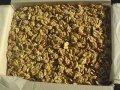 Los núcleos de la nuez 1/2 de trigo.