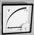 Прибор НУЛЬ-ВОЛЬТМЕТР 96LV0, 144LV0 GANZ применяется как синхроноскоп. При одинаковых напряжениях и частотах в двух схемах прибор индицирует нуль, когда схемы находятся в фазе.
