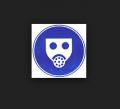 Знак Работать с применением средств защиты органов дыхания!