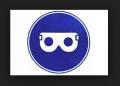 Знак Работать в защитных очках!