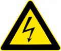 Знак Осторожно !Электрическое напряжение