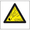 Знак Осторожно!Опасность взрыва