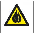 Знак Осторожно!Легковоспламеняющиеся вещества