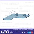 Угловая полка Commus Gamma PL21 UFBlu(350x350)