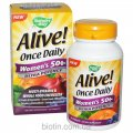 Multivitamin complex for women for 50. Alive! Ultra Potency. It is made in the USA.
