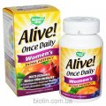 Multivitamin complex for women of Alive! Ultra Potency, 1 tablet in day. It is made in the USA.