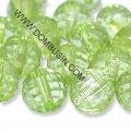 Бусины акриловые прозрачные, граненые, круглые, цвет: зеленый, диаметр: 12мм, отверстие 2мм, около 80шт/50г, (УТ0013495)