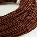 Шнур натуральная кожа, цвет: коричневый, размер: диаметр 1мм, около 100м/катушка, (УТ000004799)