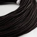 Шнур натуральная кожа, цвет: черный, размер: диаметр 1мм, около 100м/катушка, (УТ000004797)