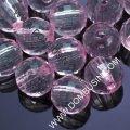 Бусины акриловые прозрачные, граненые, круглые, цвет: розовый яркий, диаметр: 14мм, отверстие 2.5мм, около 34шт/50г, (УТ0013454)